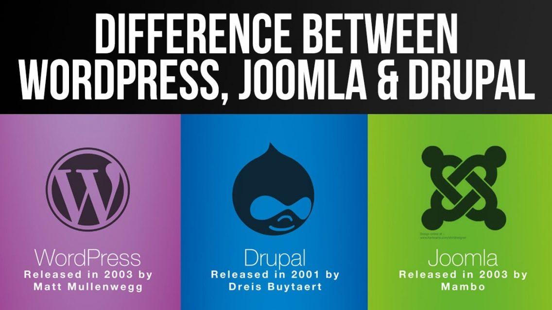 So sánh 3 hệ thống quản trị nội dung WordPress, Joomla và Drupal