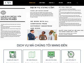 Mẫu website công ty kế toán